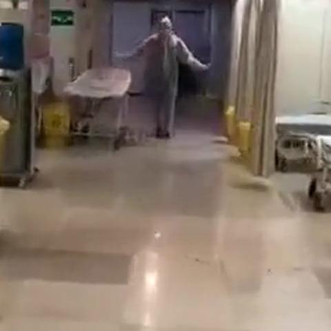 رقص+پرستار+بخش+کرونا