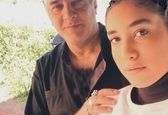 ایرج نوذری در کنار دخترش+عکس