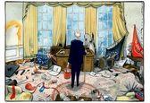 خرابکاری ترامپ در اتاق بیضی +عکس