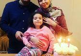 عکس خاص آزاده نامداری با همسر و دخترش