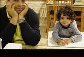 عکس قدیمی بابک جهانبخش و پسرش