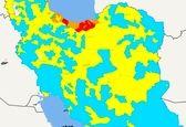 تازهترین رنگبندی کرونا در استانها +نقشه