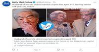 پیرترین زوج دنیا بیوه شد! +عکس