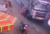 زنده ماندن معجزه آسای زن موتورسوار + فیلم