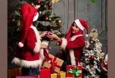 عکس کریسمسی لاکچری شبنم قلی خانی و دخترش