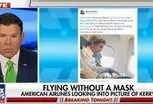 جنجال حضور جان کری بدون ماسک در هواپیما +عکس