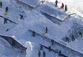 مدفون شدن یک مدرسه ابتدایی زیر برف+عکس